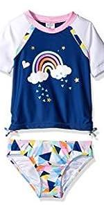rashguard, swimshirt, UV protections swimsuit, toddler girls swim baby swimsuit