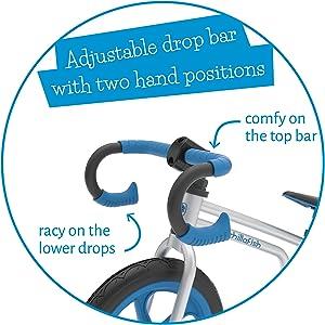 race style handle bars, balance bike