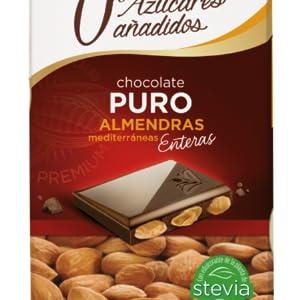 Chocolate Puro con Almendras 0% Azúcares Añadidos