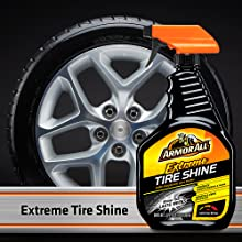 Armor All Premier Car Care Kit - Extreme Tire Shine, Spray On & Walk Away, for that Rich Black Look