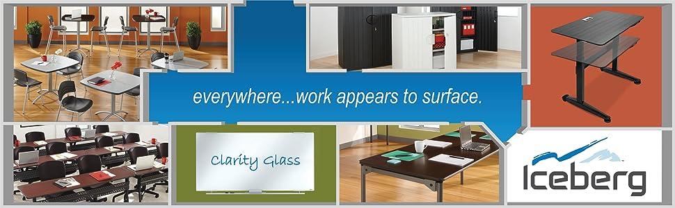 Iceberg OfficeWorks Mobile Training Tables, Strong, Durable, Versatile, Meeting, Conference Desks