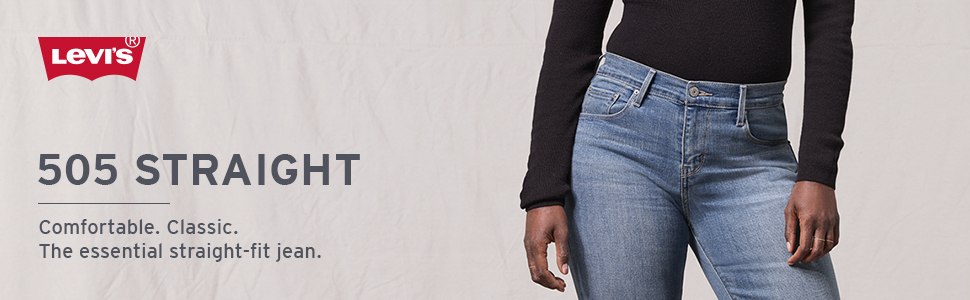 08337299100ab2 Levi's Women's 505 Straight Jeans at Amazon Women's Jeans store