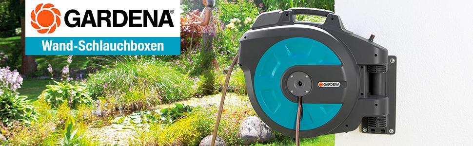 gardena comfort wand schlauchbox 25 roll up automatic schwenkbare schlauchtrommel 25 m gardena. Black Bedroom Furniture Sets. Home Design Ideas