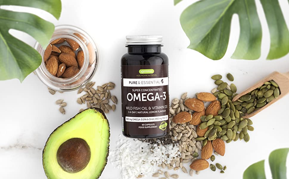 Pure & Essential Super Concentrated Omega-3 Wild Fish Oil and Vitamin D3