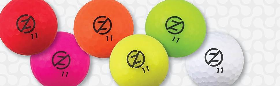 golf ball spectra distance neon colors matte finish performance sports play vivid dimple dozen