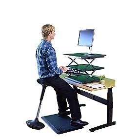 Amazoncom Uncaged Ergonomics Wobble Stool Adjustable Chair