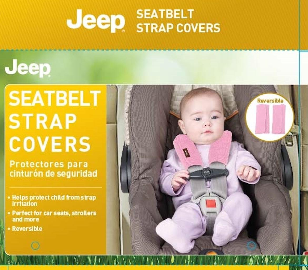 Amazon Jeep Car Seat Strap Covers 2 Pack Plush Pink