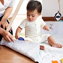 large oversized play mat stage-based sensory learning