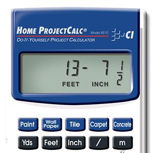 Calculated industries 8510 home projectcalc do it yourself project calculator estimating materials building contractors math square footage estimator estimate solutioingenieria Image collections