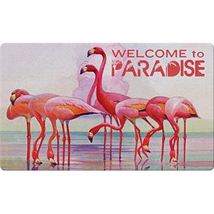 flamingo paradise;doormat