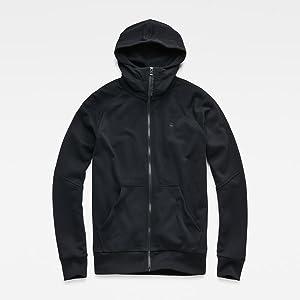 Strett hoodie, g-star hoodie, hooded zip thru sweater, sweater, g-star raw,