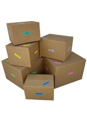 boxes moving storage packing labels