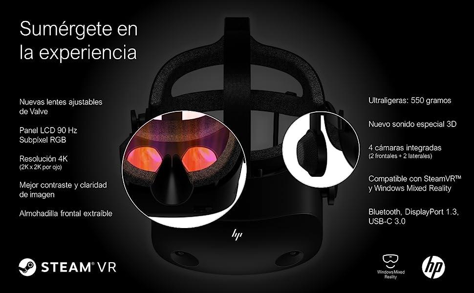 Hp 1n0t4aa Reverb G2 Virtual Reality Brille Wmr Computer Zubehör