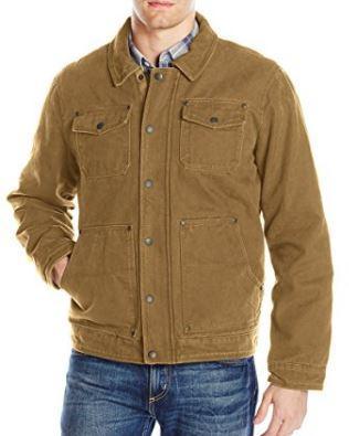 92fd2dbc Bass GH Men's Laydown Collar Two Pocket Depot Jacket With Woodsman Plaid  Lining
