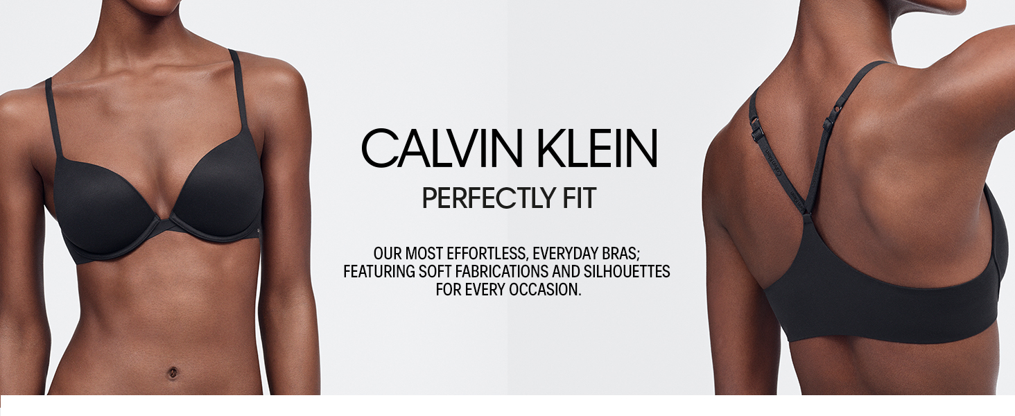7391f7fe71576 Calvin Klein Women s Perfectly Fit Push Up Plunge Memory Touch Bra ...
