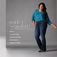 High Rise Skinny Flare