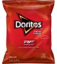 doritos reduced fat nacho cheese tortilla chips