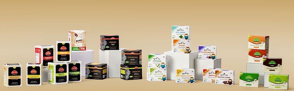 Instant Chai, Chai Tea Latte, QuikTea, Tea, Cardamom, Turmeric Ginger, Masala, Madras