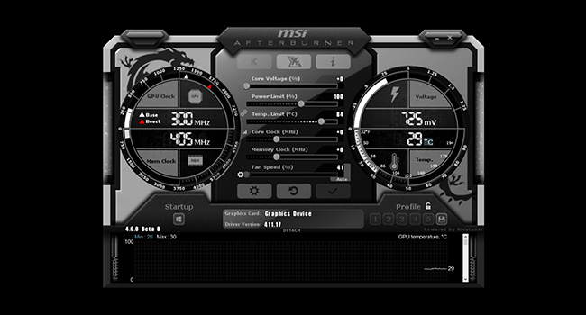 MSI RTX 2080 Turing GPU Afterburner Software