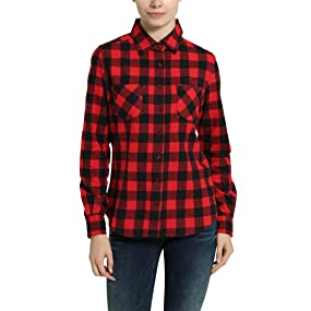 promo code 7a726 14b7d Berydale Camicia di flanella da donna: Amazon.it: Abbigliamento