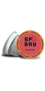 sf bay coffee, San Francisco bay coffee, coffee k cups, single serve pods, medium roast coffee