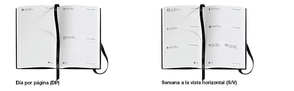 Miquelrius 31198 - Agenda 2020, Semana Vista Horizontal (90 x 140 mm), de bolsillo, Hortensias, Castellano