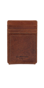 levis leather front pocket wallet magnetic money clip
