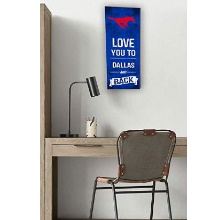 Southern Methodist Mustangs Love You To College Logo Plaque