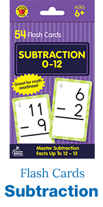 subtraction flash cards, 54 count