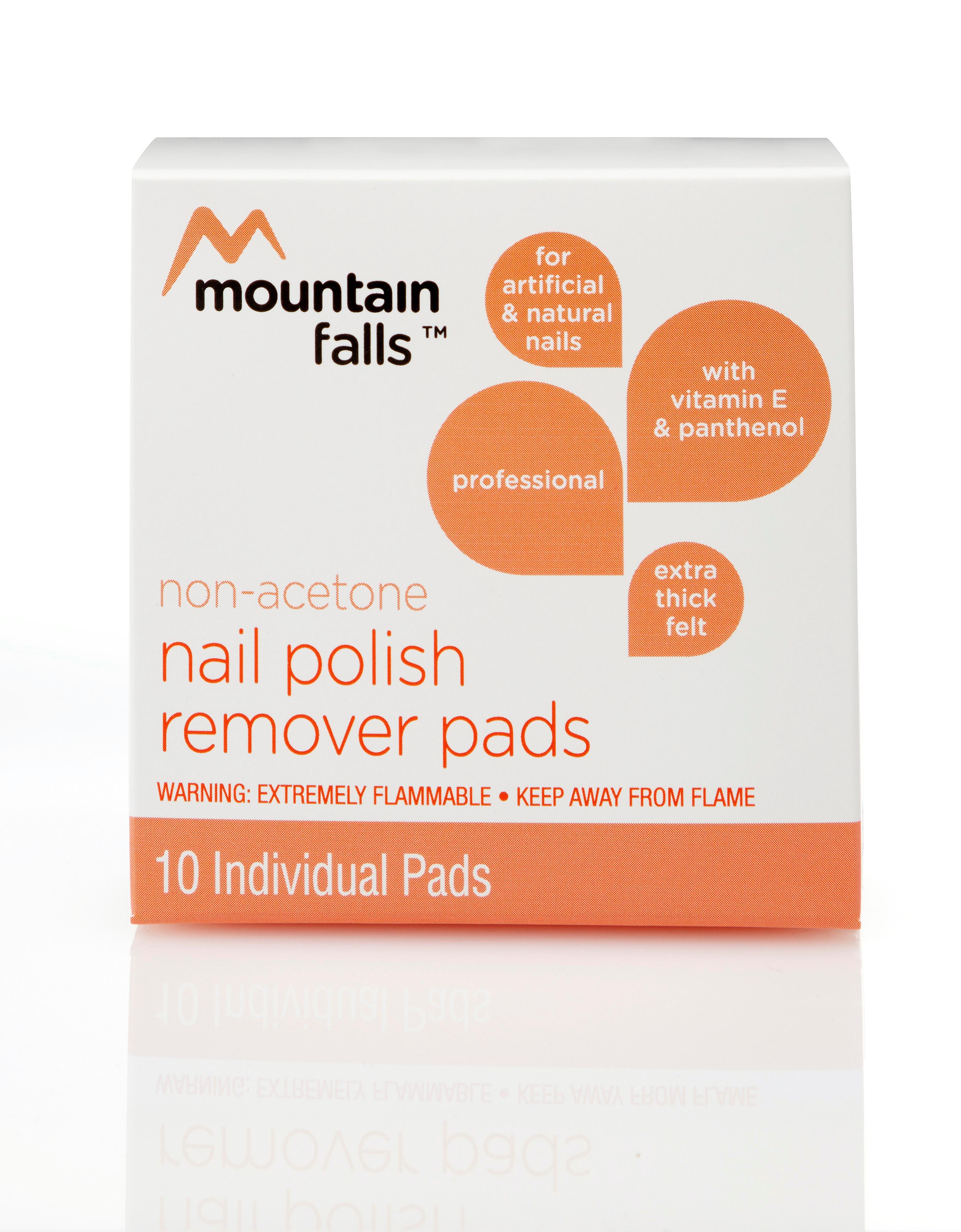 Amazon.com: Mountain Falls Non-Acetone Nail Polish Remover Pads with ...