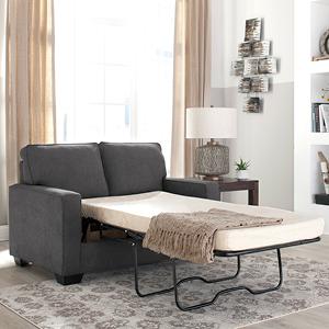 Signature Design by Ashley - Zeb Full Size Contemporary Sleeper Sofa, Quartz