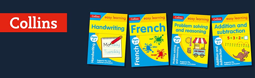 collins ks1 handwriting; ks1 french; ks1 problem solving; ks1 reasoning; ks1 addition subtraction