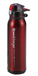 パール金属 水筒 1100ml 直飲み ステンレス ダイレクト ボトル オークレッド スピードチャージャー H-6833