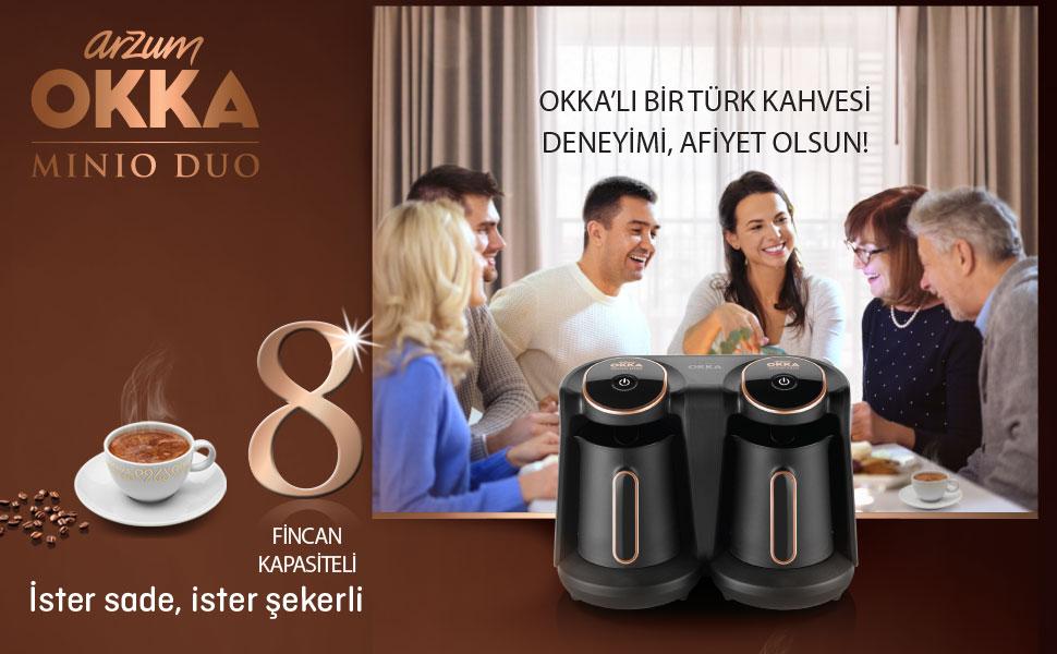 OKKA Minio Duo Türk Kahvesi Makinesi