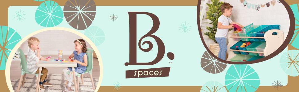 b toys, b battat, b spaces, kid furniture, kid-sized table, chairs, modern, wooden