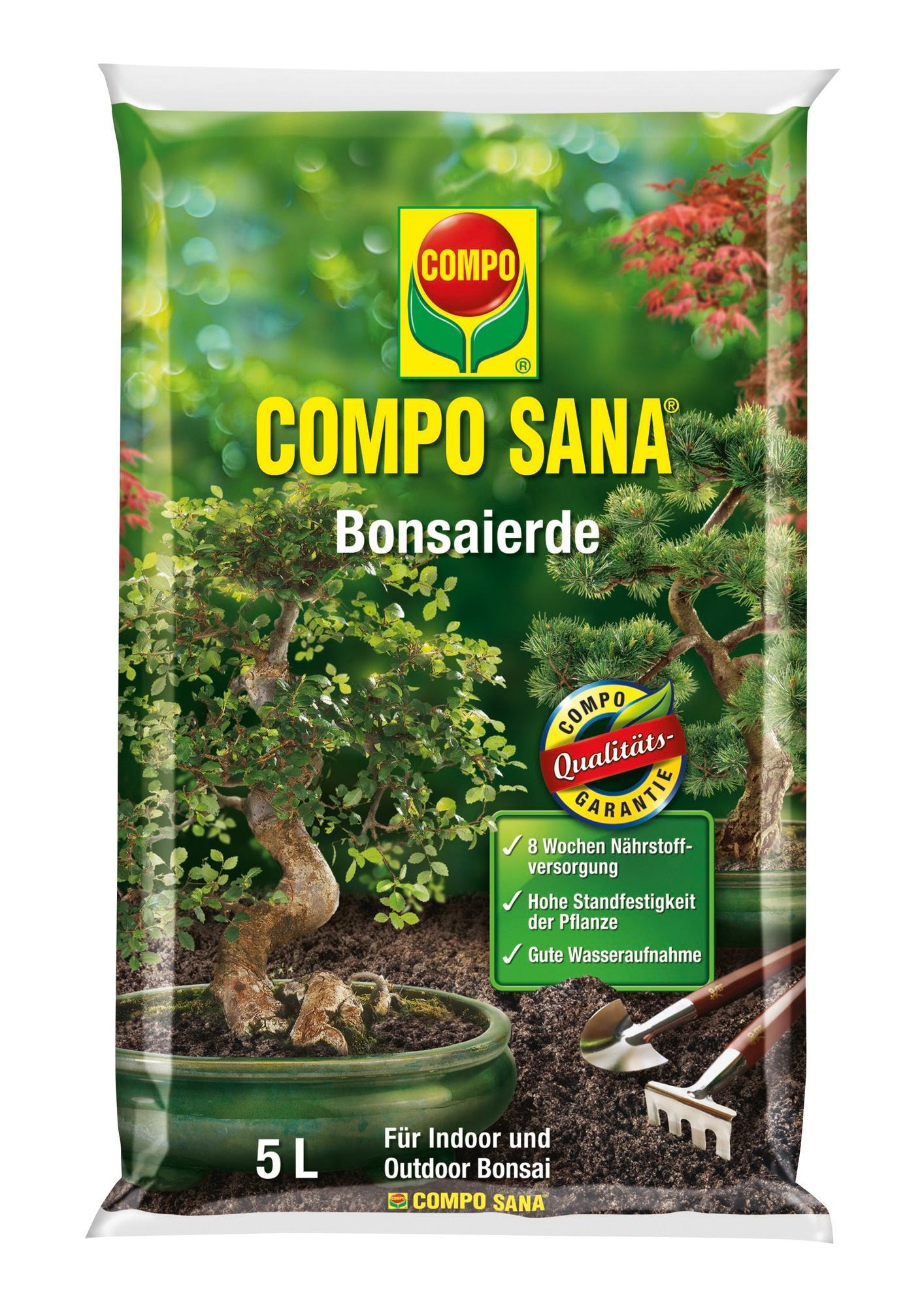 COMPO SANA Bonsaierde mit 8 Wochen Dünger für alle Zimmer- und ...