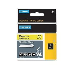 DYMO Étiquettes autocollantes industrielles en nylon Rhino