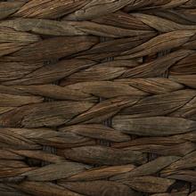 Dark Brown / Gray Wash Bone Shape Hyacinth Basket for Pets from Bone Dry