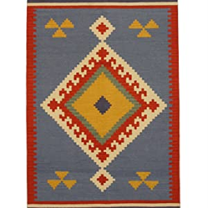 ,Type_Handmade,Color_Blue,Origin_India,Pattern_Geometric,Material_Wool,Style_Traditional