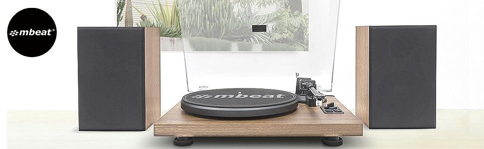 mbeat, MB-PT-28, mbeat Hi-Fi Turntable with Bluetooth Speaker, mbeat MP-PT-28, audio technica