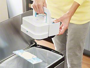 Entfernen Sie Braava jets Tücher mit nur einem Knopfdruck