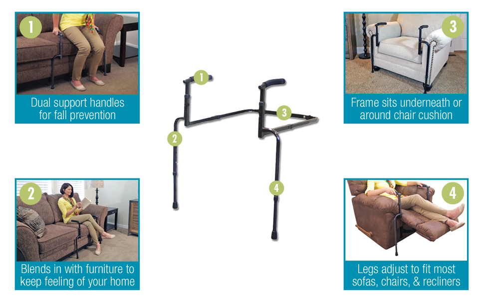 Strange Able Life Universal Stand Assist Adjustable Standing Mobility Aid Chair Assist Grab Bars With Cushioned Support Handles Independent Living Aid Onthecornerstone Fun Painted Chair Ideas Images Onthecornerstoneorg