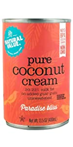 pure natural value coconut cream