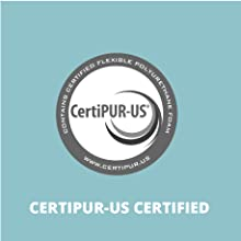 CertiPUR-US Certified memory foam mattress, non toxic mattress, safe, chemical free, hypoallergenic
