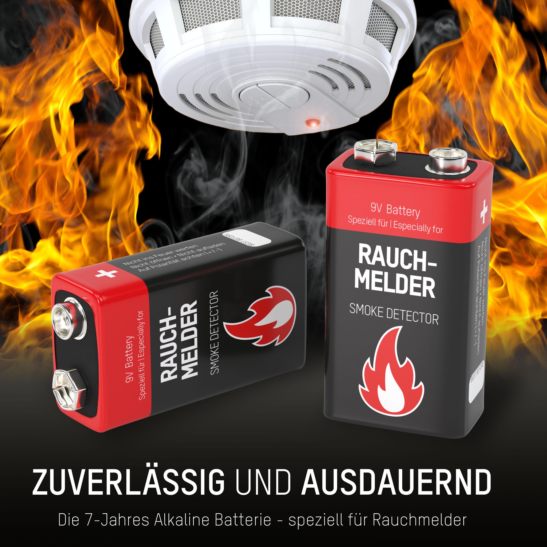 4 ANSMANN Alkaline longlife Rauchmelder 9V Block: Amazon