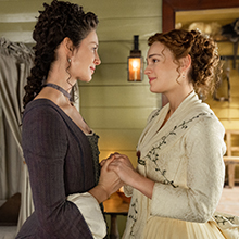 Sophie Skelton as Brianna MacKenzie with Claire