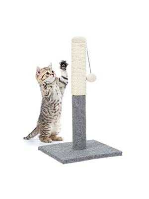 Relaxdays Poste Rascador para Gatos con Juguete, Sisal, Gris, 54 x ...