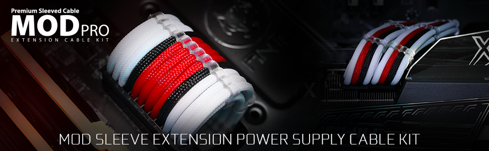 ANT ESPORTS MODPRO EXTENSION CABLE-RED-overview