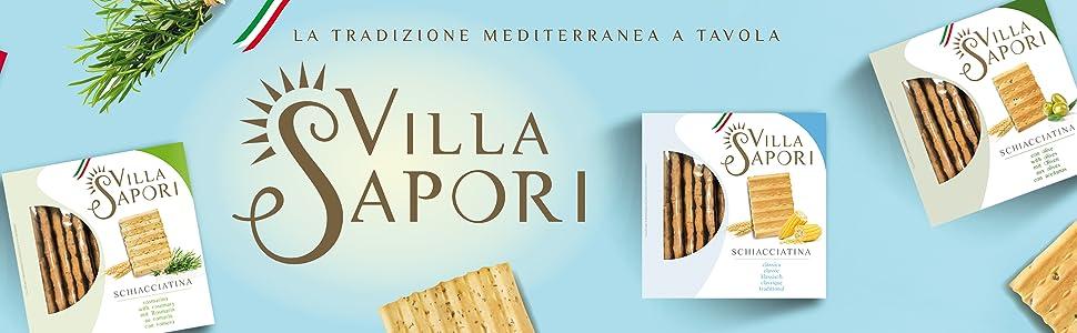 Villa Sapori Pan Crujiente Italiano | Schiacciatina Sabor Clásico ...