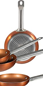 San Ignacio Professional Chef Copper Plus Set 6 sartenes +, Aluminio ...